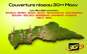 Centrafrique:  la Société Moov est en effervescence, Sa restructuration est actée par le lancement de la dernière génération de la technologie 3G sur le marché centrafricain de téléphonie mobile