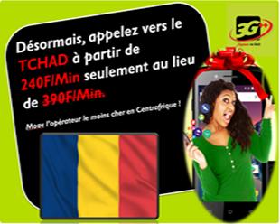 Centrafrique: MooovInter Appelez  le Tchad à moindre coût Soudan à partir 199F/Min , Nigéria  à 100f/Min, Offre promotionnelle,  profitez-en  Moov, opérateur  le moins cher !