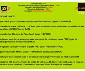 Centrafrique: Moov annonce